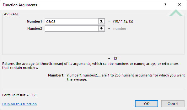 Excel AVERAGE Function | Excel, VBA