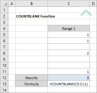 Excel-COUNTBLANK-Function Vba Worksheetfunction Count on
