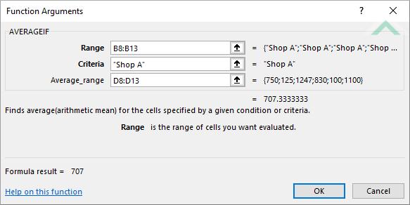 Excel AVERAGEIF Function | Excel, VBA