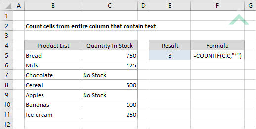 Count Cells From Entire Column That Contain Text Excel Vba. Count Cells From Entire Column That Contain Text. Worksheet. Worksheetfunction Text At Clickcart.co
