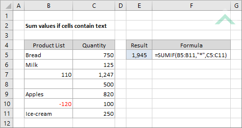 Sum values if cells contain text excel vba method 1 sum values if cells contain text excel ibookread ePUb