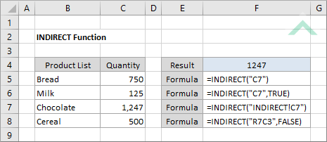Excel INDIRECT Function | Excel, VBA