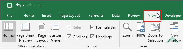 Hide gridlines in multiple worksheets using excel and vba exceldome select the view tab ibookread PDF