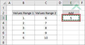 Add same number to a range of cells using Excel and VBA