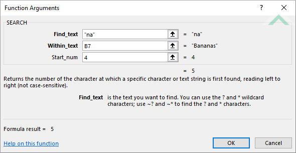Excel SEARCH Function | Excel, VBA