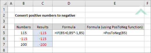 Convert positive numbers to negative using Excel and VBA | Exceldome