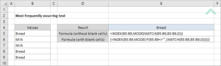 excel mode if
