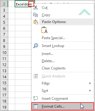 Shrink text to fit in a cell using excel and vba exceldome right click on cell in which to wrap text and click format cells ibookread Read Online