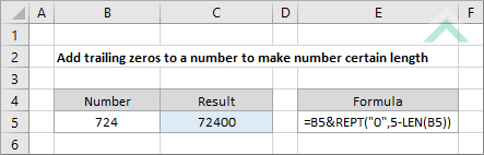 Add trailing zeros to a number to make number certain length ...
